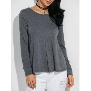 Classic Loose-Fitting T-Shirt - GRAY L