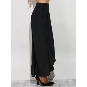 High Slit Chiffon Bud Culotte Pants -