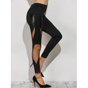 Skinny Mesh Spliced Narrow Feet Pants -