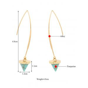 Artificial Turquoise Cone Earrings - GREEN