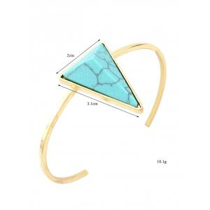 Artificial Turquoise Triangle Cuff Bracelet - GREEN