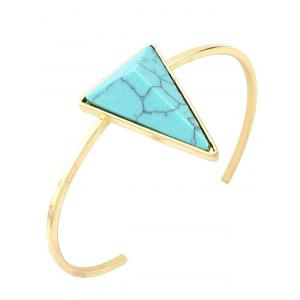 Artificial Turquoise Triangle Cuff Bracelet