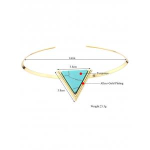 Artificial Turquoise Triangle Necklace -