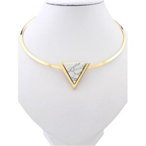 Artificial Turquoise Triangle Necklace
