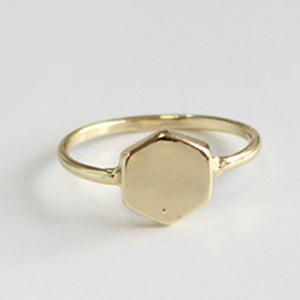 Vintage Geometric Jewelry Ring Set - GOLDEN ONE-SIZE