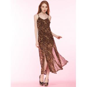 Cami Leopard Print High Slit Maxi Dress