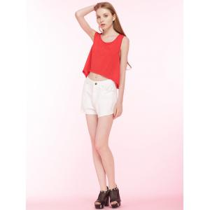 Cut Out Cropped Loose Tank Top -
