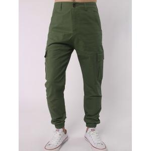 Side Pockets Chino Cargo Pants