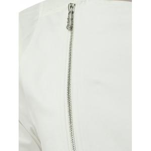 Half Sleeve Side Zip Up Tee - WHITE 2XL