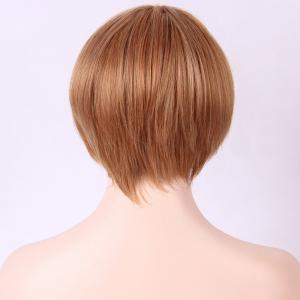 Mixed Color Side Bang Capless Straight Short Synthetic Wig -