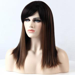Adiors Full Bang Long Silky Straight Highlight Synthetic Wig -