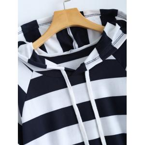 Plus Size Stripe Hoodie and Casual Pants Set -