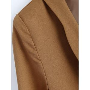 Front Pocket Slim  Fitted Blazer - CAMEL XL