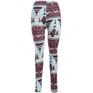Abtsract Print Leggings - Colormix - One Size