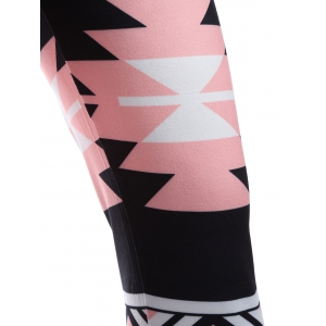 Mid Rise Geometric Print Leggings -