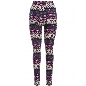 Mid Rise Print Leggings -
