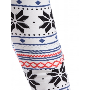 Christmas Snowflake Ankle Leggings -