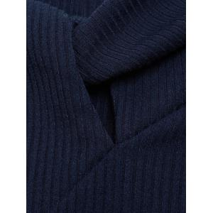 Hollow Out Pullover Knitwear - PURPLISH BLUE S