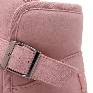 Buckle Strap Furry Rabbit Snow Boots - PINK 39