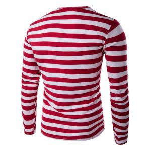 Long Sleeve Round Neck Striped T-Shirt -
