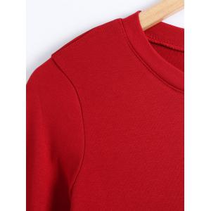 Plus Size Round Neck Long Sleeve Pullover T-Shirt -