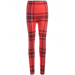 Plaid Yoga Leggings -