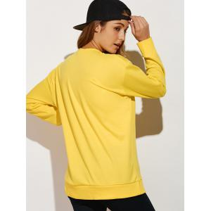 Banana Split Oversized Yellow Sweatshirt -