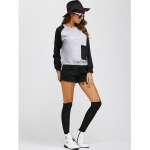 Pocket Patchwork Jumper Sweatshirt -