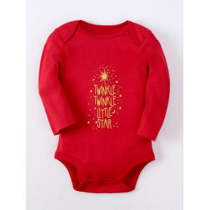 Kids Long Sleeve Letter Baby Romper