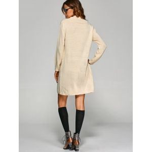 Tunic Knitted Long Sleeve Dress -