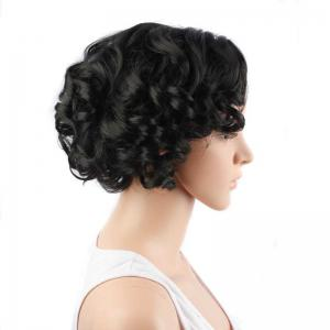 Fascinating Short Side Parting Curly Synthetic Wig -