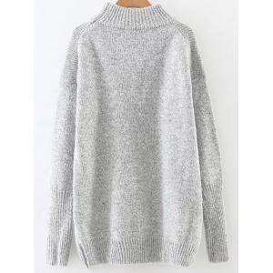 High Neck Long Loose Sweater -