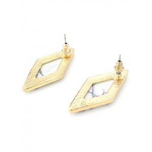 Artificial Turquoise Geometric Drop Earrings - WHITE