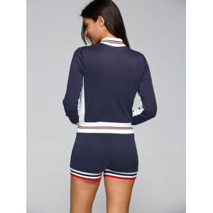 Active Shorts With Baseball Running Jacket -
