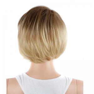 Graceful Short Double Color Side Bang Straight Synthetic Wig -