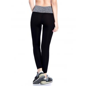Slimming  High Waisted Yoga Leggings - GRAY L