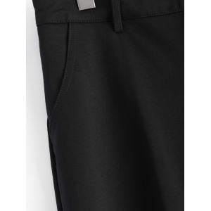 Plus Size Pockets Design Harem Pants - BLACK 5XL