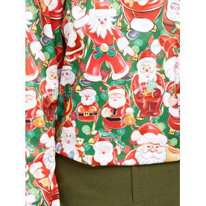 3D Santa Claus Print Sweatshirt - RED/GREEN ONE SIZE