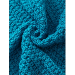 Soft Color Splicing Knitted Mermaid Tail Blanket -