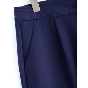 Plus Size Welt Pockets Pencil Pants -