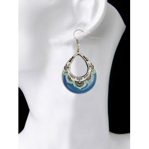 Vintage Hollowed Water Drop Earrings -