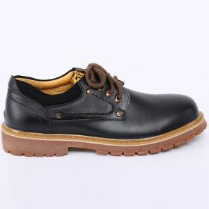 Round Toe Lace Up Vintage Casual Shoes - BLACK 42