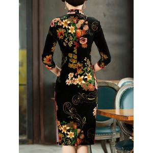 Velvet Cheongsam Dress -