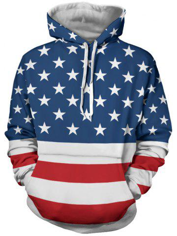 New Stars and Stripes Pattern Long Sleeve Hoodie