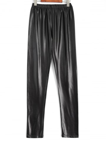 Trendy Plus Size Faux Leather Pencil Pants BLACK 4XL