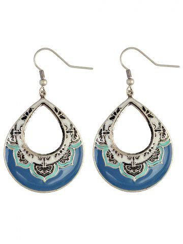 Affordable Vintage Hollowed Water Drop Earrings