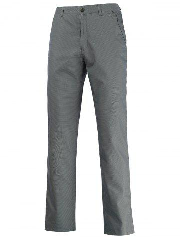 Online Button Pocket Zipper Fly Chino Pants GRAY 40