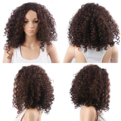 Hot Vogue Medium Fluffy Kinky Curly Synthetic Capless Wig
