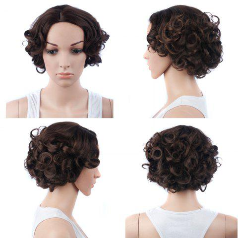 Outfits Retro Short Side Parting Curly Synthetic Wig