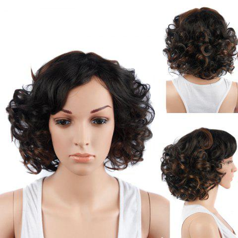 Buy Colormix Short Side Bang Curly Synthetic Wig COLORMIX